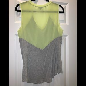 Guess Tops - Guess Neon Yellow & Gray Tank Top
